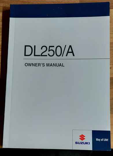 Owner's manual - 9901121K5001A - DL250/A