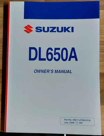 Owner's manual - 9901127G6201A - DL650A
