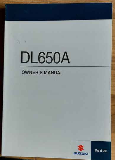 Owner's manual - 9901127G6301A - DL650A