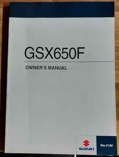 Owner's manual - 9901117H7201A - GSX650F