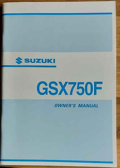 Owner's manual - 9901120C6501A - GSX750F