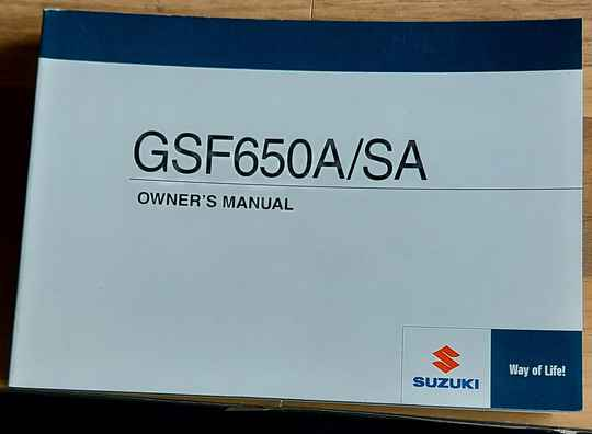 Owner's manual - 9901146H6001A - GSF650A/SA
