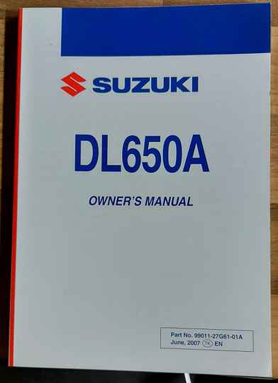 Owner's manual - 9901127G6101A - DL650A