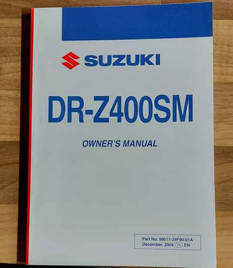 Owner's manual - 9901129F9001A - DRZ400SM