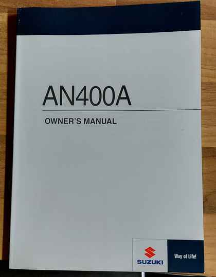 Owner's manual - 9901105H7001A - AN400A