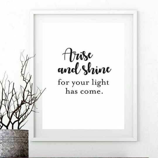 Poster - Arise and shine