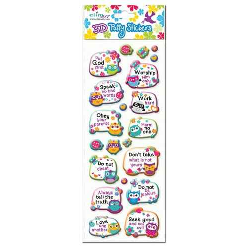 Stickers Puffy - The ten commandments