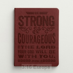 Journal Soft cover - Strong and courageous