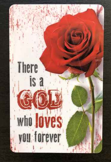 Minikaartje: There is a God who loves you forever