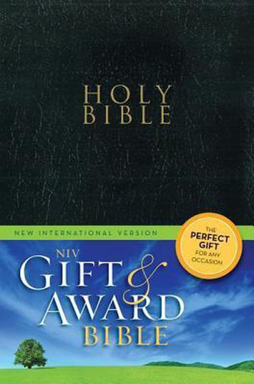 Gift & award bible NIV black leather lik New International Version, Black, Leather-Look, Gift & Award Bible