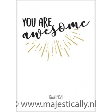 Kaart 'You are awesome'