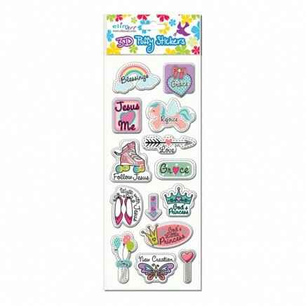 Stickers Puffy - Girl's