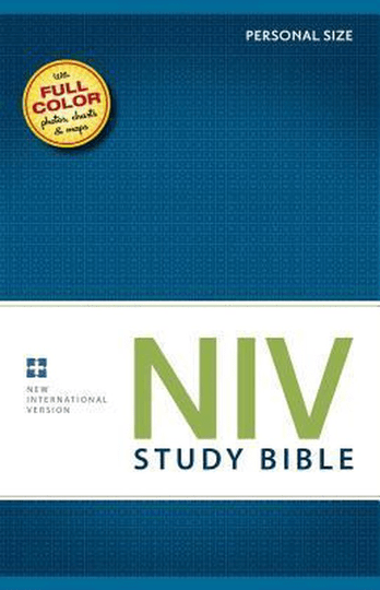 NIV Study Bible, Personal Size, Hardcover, Red Letter Edition New International Version, Personal Size