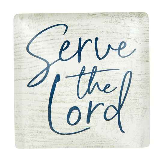 Magneet glas - Serve the Lord
