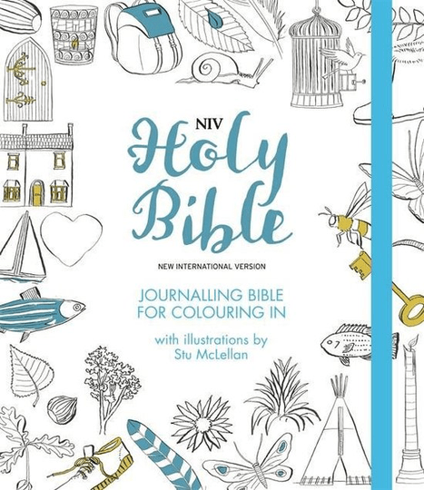 NIV Journalling Bible for Colouring In With unlined margins and illustrations to colour in