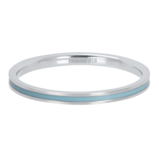 iXXXi Jewelry vulring 2mm Line Turquoise Zilver