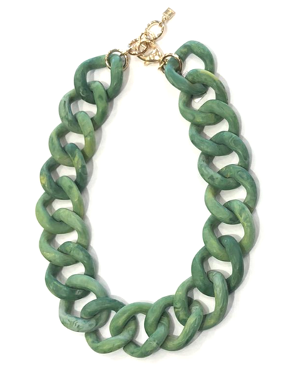 Camps & Camps Collier chunky chain Mat Groen