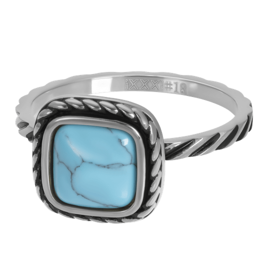 iXXXi Jewelry vulring 2mm Summer Turquoise Zilver