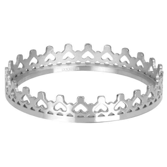 iXXXi Jewelry vulring 4mm of 1mm Royal Crown Zilver
