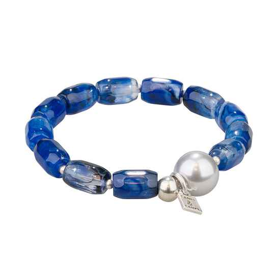 SALE Camps & Camps Armband little denim lantern bracelet (blauw)