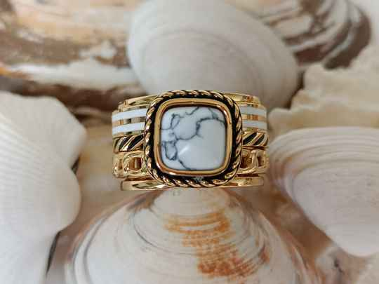 iXXXi Jewelry Complete Ring 12mm Summer White Goud