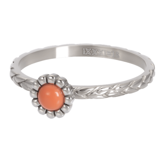 iXXXi Jewelry vulring 2mm Inspired Coral Zilver