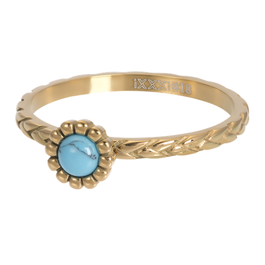 iXXXi Jewelry vulring 2mm Inspired Turquoise Goud
