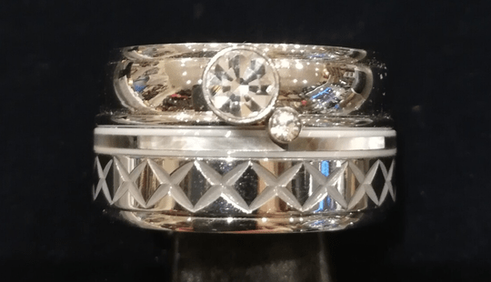 iXXXi Jewelry Complete Ring 12mm Crystal Zilver Parelmoer