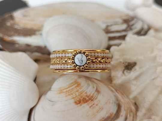 iXXXi Jewelry Complete Ring 8mm Inspired White Goud