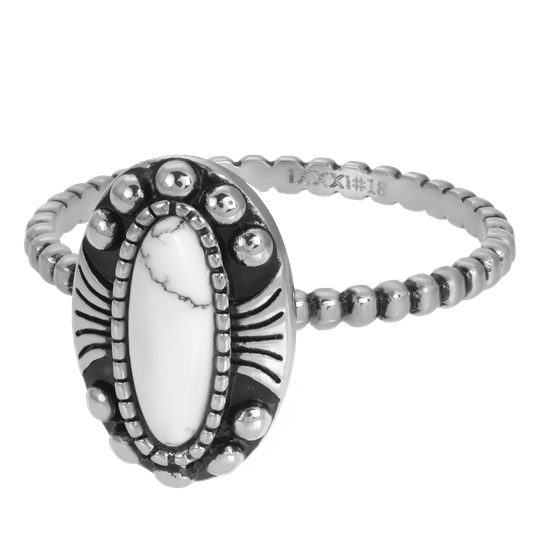 iXXXi Jewelry vulring 2mm Indian White Zilver