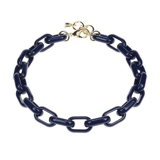 Camps & Camps Collier blue oval link chain