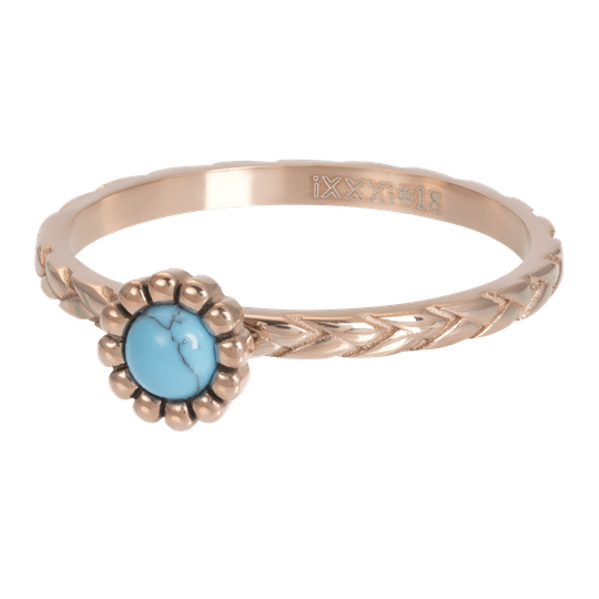 iXXXi Jewelry vulring 2mm Inspired Turquoise Rosé