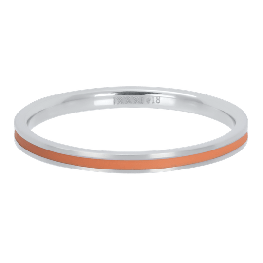 iXXXi Jewelry vulring 2mm Line Line Coral Zilver