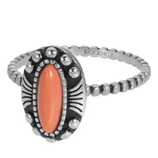iXXXi Jewelry vulring 2mm Indian Coral Zilver