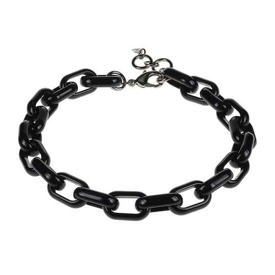 Camps & Camps Collier raven oval link chain (zwart)