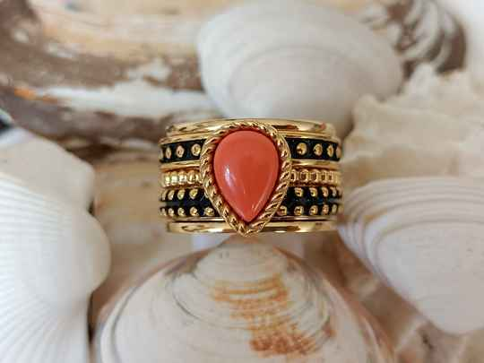 iXXXi Jewelry Complete Ring 12mm Magic Coral Goud