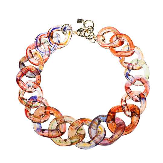 Camps & Camps Collier kaleidoscope super chunky chain