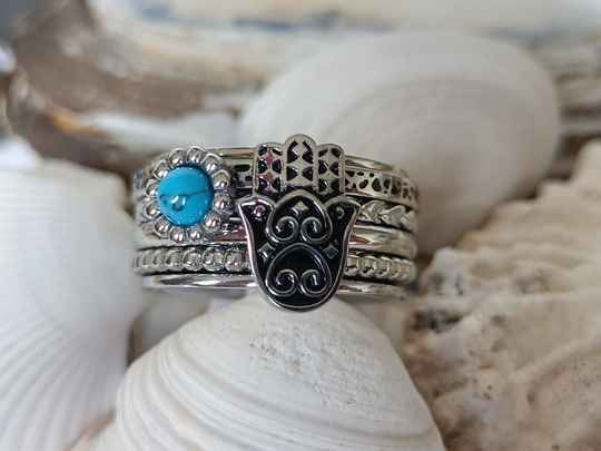 iXXXi Jewelry Complete Ring 10mm Boho Hand Zilver