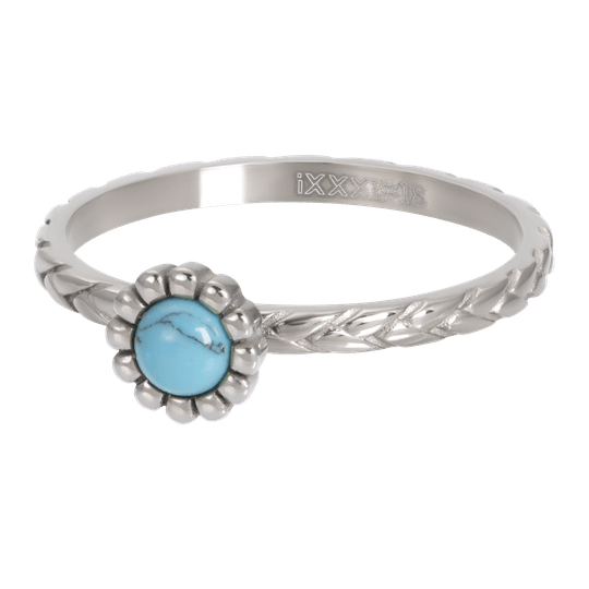 iXXXi Jewelry vulring 2mm Inspired Turquoise Zilver