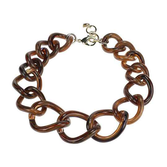 Camps & Camps Collier totally vogue foxy chain ketting (bruin-blauw)