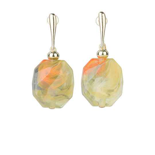 Camps & Camps Oorhangers grasshopper facetted stone earrings
