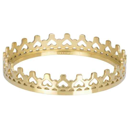 iXXXi Jewelry vulring 4mm of 1mm Royal Crown Goud