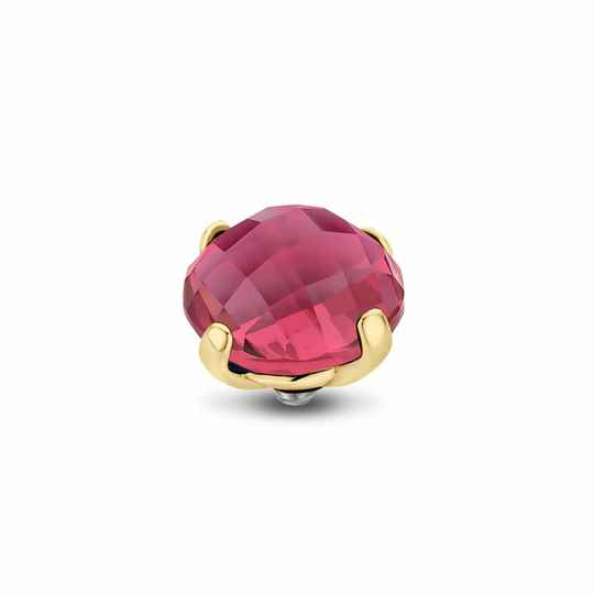 Melano Jewelry Twisted Facet Bold Steentje Rose