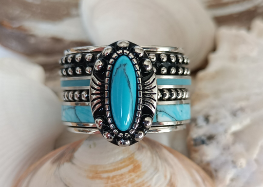 iXXXi Jewelry Complete Ring 14mm Indian Turquoise Zilver