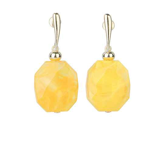 Camps & Camps Oorhangers firefly facetted stone earrings