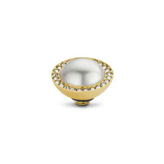 Melano Jewelry Twisted Crystal Pearl White Gold