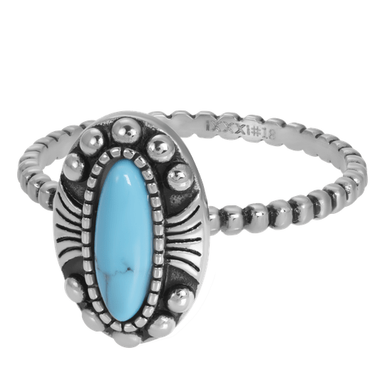 iXXXi Jewelry vulring 2mm Indian Turquoise Zilver