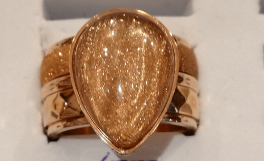 iXXXi Jewelry Complete Ring 12mm Grote Druppel  Goud
