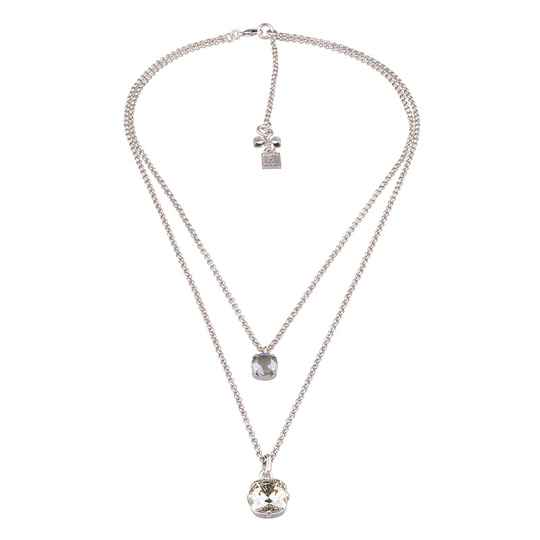 Camps & Camps Collier Silver double chain
