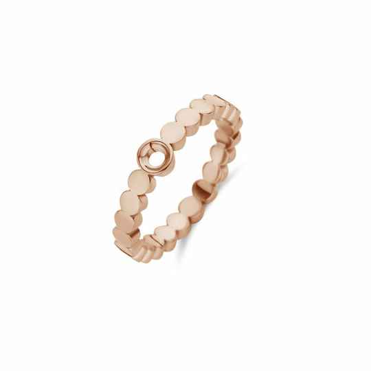 Melano Jewelry Twisted Wave Ring Rose